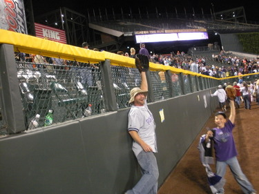 Me n Hunter on the Coors Field 9-19-08.JPG