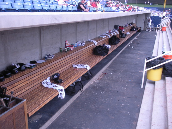 visitors dugout at Maryvale 3-3-09.jpg