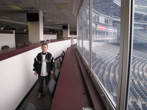 Hunter in the Rockies Press Box.JPG