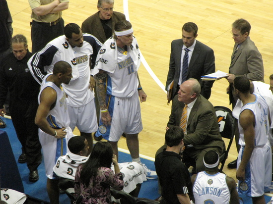 Nuggets time out
