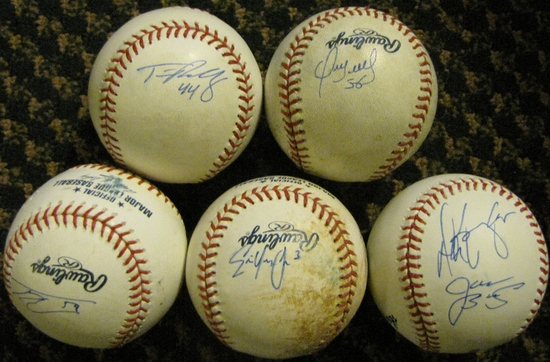 Autographed baseballs Isotopes.jpg