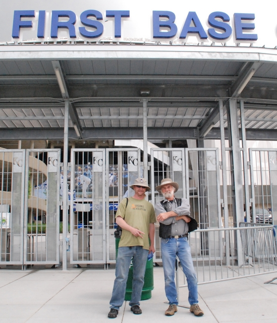 RPR and Robert 5-21-10 first base gate.jpg