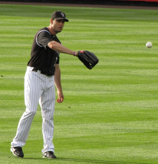 Seth Smith Playing catch 4-27-10.JPG