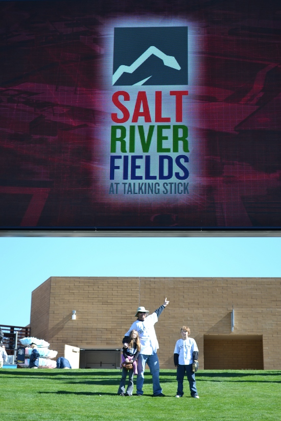 Salt River Fields scoreboard and kids.jpg