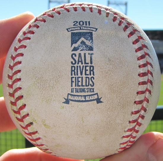 Salt River Fields Commerative ball 2-28-11.jpg