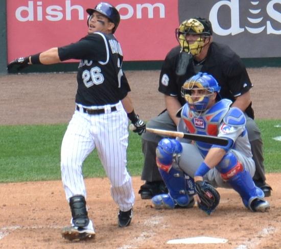 Morales gets a hit 4-17-11.jpg