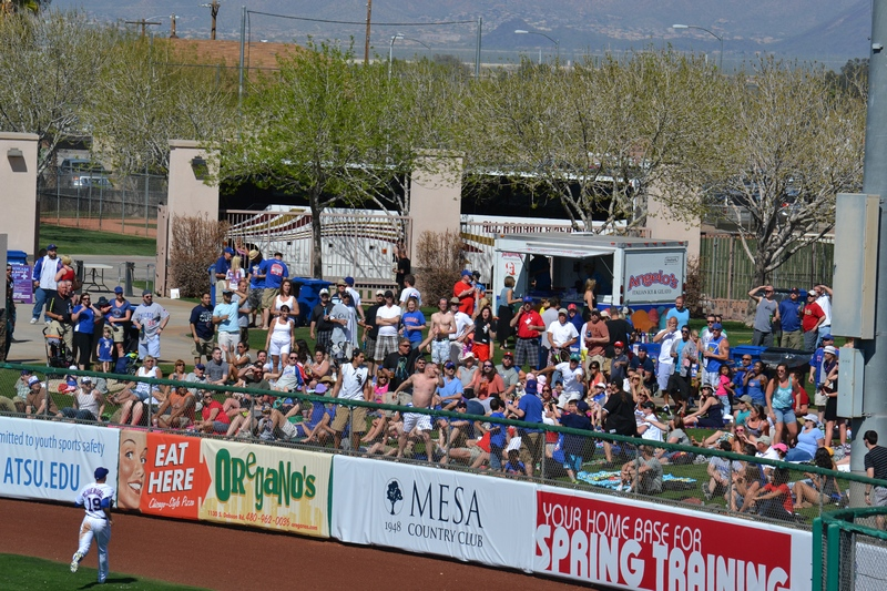 packed right field berm